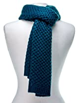 Noble Mount Mens Premium Weave Pattern Scarf - Teal