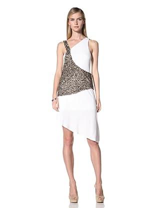 Poleci Women's Sequin Overlay Dress (Ivory)