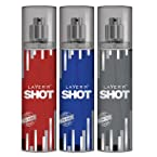 Layerr Shot Deep Desire- Power Play- Red Stallion Pack of 3 Deodorants For Men