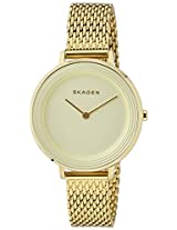 Skagen End-of-Season Ditte Analog Gold Dial Women's Watch - SKW2333