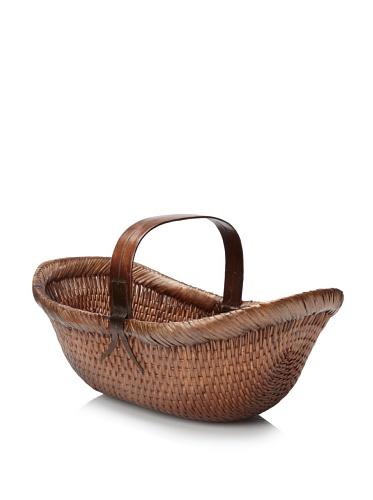 Antique Revival Old Picnic Basket (Natural)