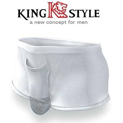 King Style 網ポケット付パンツ トランクス グレー Mサイズ