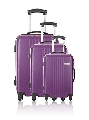 Travel ONE Set de 3 trolleys rígidos Burnley Morado