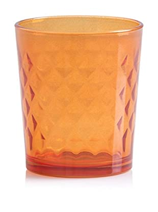 Shiraleah Set of 6 Orange Prism 10-Oz. Double Old Fashioned Glasses