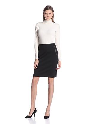 Calvin Klein Women's Skirt with Front Zip Detail (Black)