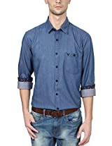 Allen Solly Men Comfort Fit Shirt_ALSF515J03906_40_Blue