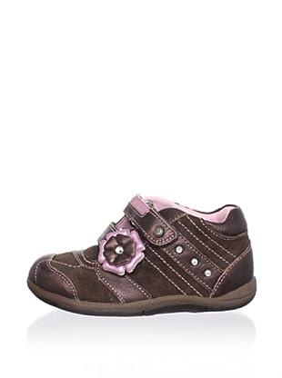 Stride Rite Kid's McKalya First Walker (Toddler) (Brown/Pink)