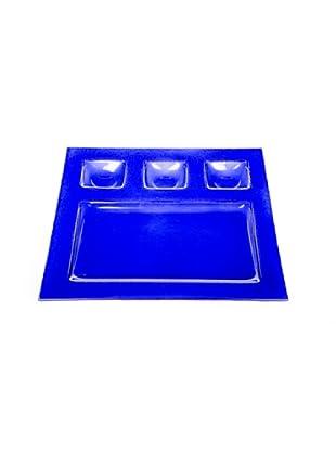 Kaleidos Piatto Chef Multiuso Quadro 28x28 cm (Blu)