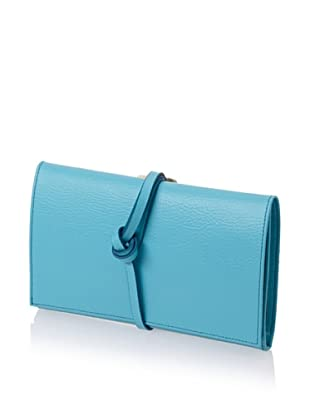 Morelle & Co. Audrey Leather Envelope Jewelry Roll (Turquoise)