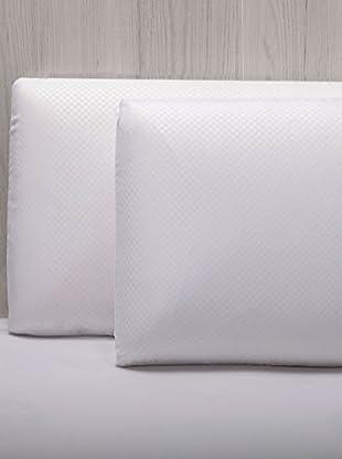 Almohada Visco Microfibra Doble Funda (Blanco)