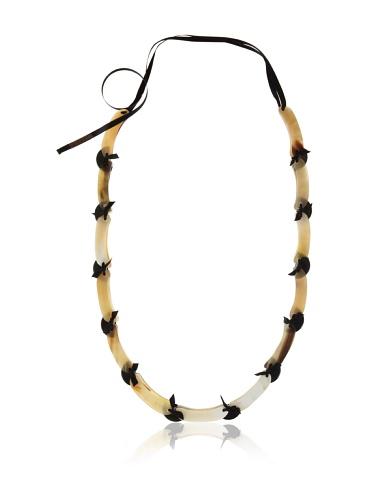 MARNI Women's Buttercream Beaded Tie Necklace