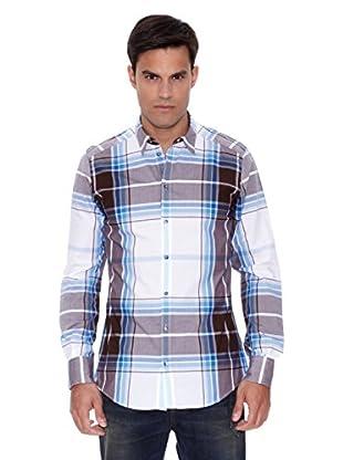 Dolce&Gabbana Camisa Tartán Pero (Azul)