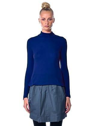 Eccentrica Camiseta Cuello Alto (Azul)