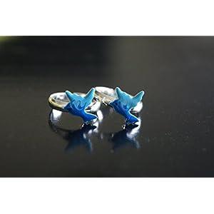 Gajgauri Silver Toe Ring in Silver & Blue