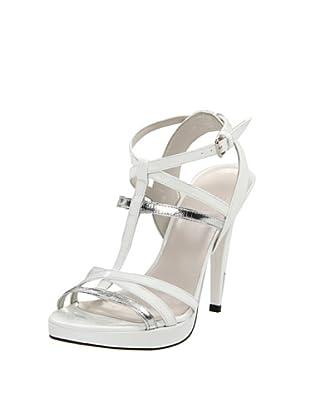 Stuart Weitzman Women's Almost Platform Sandal (White Patent)