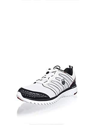 K-SWISS Men's Blade-Light Running Shoe (White/Black/Silver)
