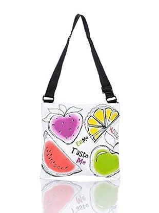 H.Due.O Borsa Summertime Fruits Bianco