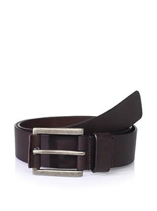 J.Campbell Los Angeles Men's Leather Bar Belt (Brown)