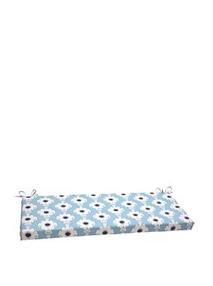 Waverly Sun-n-Shade Rise and Shine Pool Bench Cushion (Navy/Aqua/Cream)