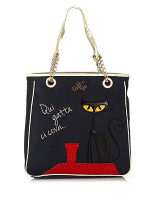 Hoy Collection Borsa Camilla Black Cat (Blu)