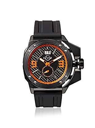 GV2 by Gevril Men's 9402 Grande Black Silicone Watch with an Extended Case