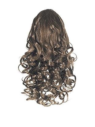 Love Hair Extensions Kunsthaar-Pferdeschwanz Curly mit Kordel 30cm 4 Chestnut Brown