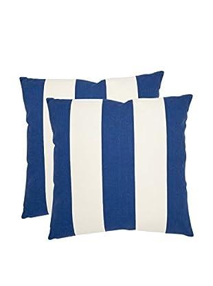 Safavieh Set of 2 Sally Pillows, Navy/Blue