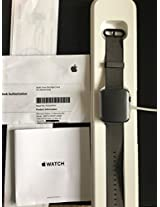 Apple Smart Watch 42mm Grey Aluminum Case with Black Nylon Sport Band
