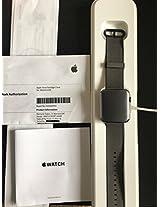 Apple Smart Watch 42mm Grey Aluminum Case with Black Nylon Sport Band