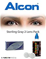 Ciba Vision Freshlook ColorBlends Sterling Gray Color Contact Lenses By Visions India 2 Lens Pack 0.00