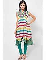 Sleeve Less Stripes Multi Kurti