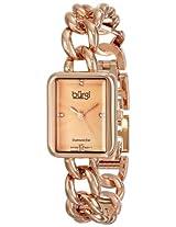 Burgi Women's BUR100RG Rose-Tone Stainless Steel Watch with Link Bracelet