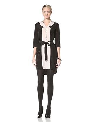 Yoana Baraschi Women's Colorblock Shirt Dress (Black/Marble)