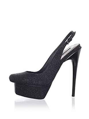 Adrienne Maloof for Charles Jourdan Women's Shaun Platform Slingback Pump (Black)