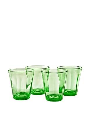 Set of 4 Kassie 10-Oz. Double-Old Fashion Glasses, Kiwi