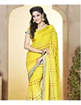 Poly Georgette Saree with Blouse