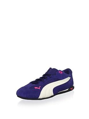 PUMA Women's Fast Cat SM Fashion Sneaker (Medieval Blue/Birch/Fluroscent Pink)