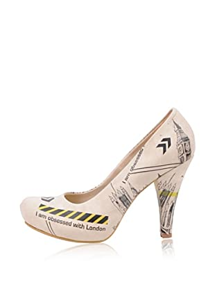 Dogo High Heel Obsessed With London (Creme)