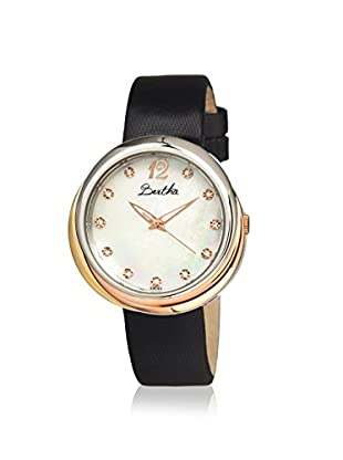 Bertha Women's Jean Black/White Leather Watch