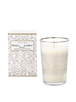 Market Street Candles 10.5-Oz. Silver Lace Moroccan Candle