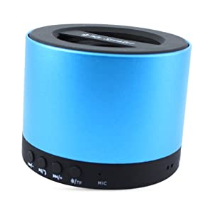 DMG Wireless Handsfree Bluetooth Speaker AUX TF Card for Mobiles, iPhone, Tablets, iPad (Metallic Blue)