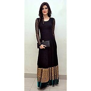 Arianna Kriti Sanon Indian Gown - Black