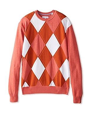 Alex Cannon Men's Argyle Crew Neck Spring Sweater