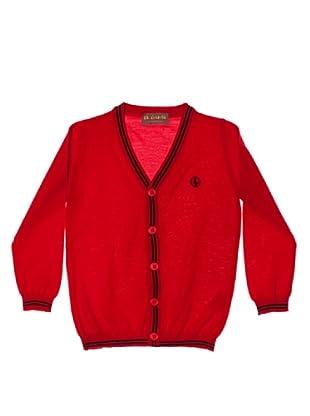 El Ganso Cárdigan Con Rayas (Rojo)