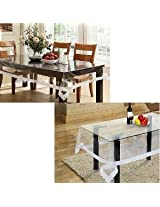ExpressionHome Dining & center table cover set of 2-waterproof