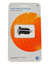 AT&T Scosche Dual USB Car Charger - 10W/2.1A x 2 Outlets