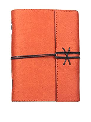 Marina Vaptzarov Soft Cover Daphne Paper Travel Diary, Orange