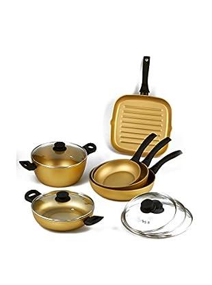 Stonegold Topf- und Pfannen-Set, 6 tlg. gold/schwarz