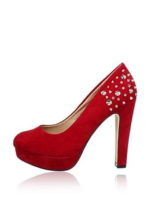Buffalo Girl 325393R SY SUEDE 140874 - Zapatos de vestir  mujer (Rojo)
