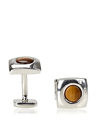 Rotenier Tiger Eye Portal Cufflinks, Silver